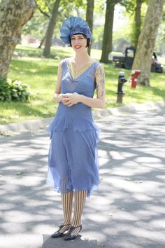 On the grounds of the 11th annual Jazz Age Lawn Party in Governors Island 20s Fashion, Fashion History, Fashion Art, Retro Fashion, Fashion News, Fashion Show, Vintage Fashion, 1920s Outfits, Vintage Outfits