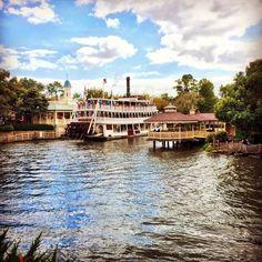 It's a beautiful day on the Rivers of America in Magic Kingdom @waltdisneyworld #disney #disneyworld #magickingdom www.wdwradio.com
