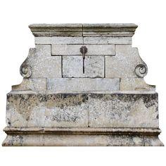 Provencal Style Stone Wall Fountain, 19th Century