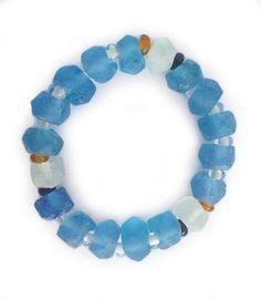 Dalia Blue Bracelet | Indigo Heart - Fair Trade Fashion Fair Trade Fashion, Bali, Indigo, Artisan, Beaded Necklace, Heart, Bracelets, Collection, Jewelry