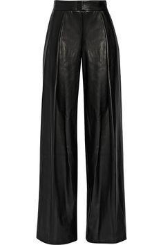 DKNY|Faux leather wide-leg pants|NET-A-PORTER.COM