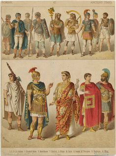 The different style of Roman Men for different hierarchy.