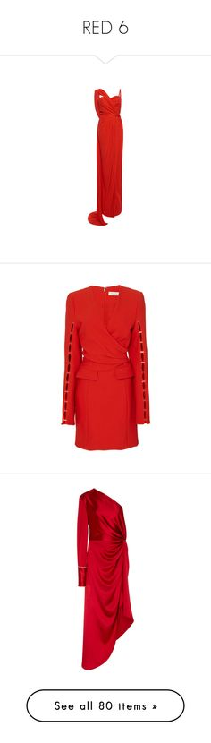 """RED 6"" by jckyleeah ❤ liked on Polyvore featuring red, reddress, RedShoes, redoutfits, jckyleeahredcollection, dresses, gowns, long dresses, sexy dresses and red dress"