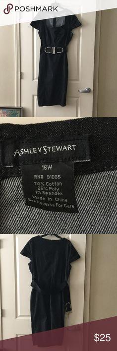 Dress Great Denim Dress! Very comfortable to wear. Good looking when worn. Ashley Stewart Dresses Midi