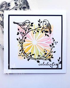 Birthday Cards, Stencils, Stamps, Birds, Crafts, Bday Cards, Seals, Manualidades, Bird