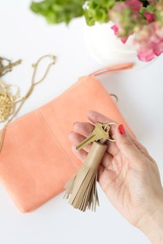 easy-peasy, chic leather tassel keychain