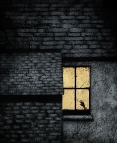 Scary magic window--don't even want to know what's going on in there.   Sperber Illustrationen