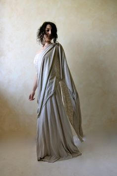 Women's sari inspired dress - jersey maxi skirt with lace bandeau top - alternative wedding dress - hippie wedding dress