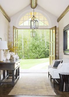 For me the key feature of any room is natural lighting. Love floor to ceiling windows and walls made up of mostly windows. Sunshine and a view!!