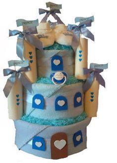 Little Prince Castle nappy cake at www.churchtowngifts.ie