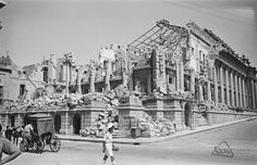 War damaged Opera House in Valletta Malta.
