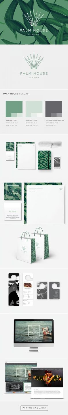 Palm House - Palm Beach branding and identity set / inspiration / create a brand / love the green colors