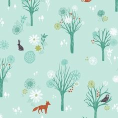Dashwood Studio - Foxes & Hares Fabric - Bethan Janine