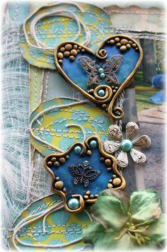 Such a Pretty Mess: Polymer Clay & Trinket Embellishment Tutorial (Bo Bunny DT)
