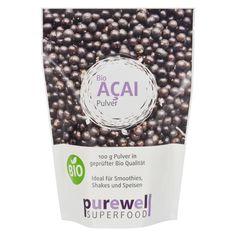 """ACAI Pulver - Bio Superfood von Purewell - Das """"Lifestyle Vitalstoffpaket"""" für Schönheit, Schlankheit & Gesundheit Verfeinern Sie Ihre Smoothies, Shakes oder sonstige Speisen & Getränke mit natürlichem ACAI Pulver in Bio Qualität und machen Sie aus jeder Speise Ihr """"Superfood""""."""