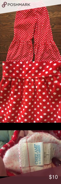 Soft Chez Ami bell bottom pants! Adorable for the holiday season or Valentine's Day!! Warm, fuzzy bell bottom pants. Non smoking home. Make an offer! chez ami Bottoms
