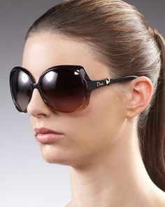 Squared+Ombre+Sunglasses+by+Dior+at+Neiman+Marcus.
