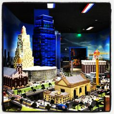 LEGO structures at LEGOland Discovery Center in Kansas City, MO