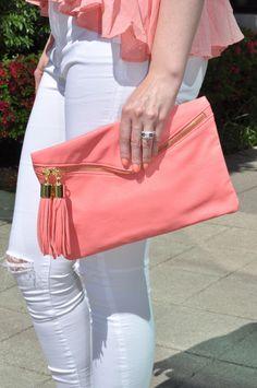 Kiki Simone Fashion - Fashion blog by Kiki Simone Williamson: clothing: ALL WHITE AND CORAL