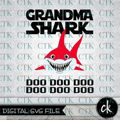 Instant Download Svg Mama Shark Clipart Svg Dxf Pdf
