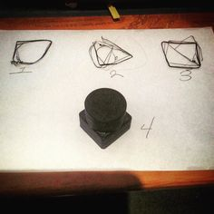 The path of progress in 3 D printing.  Test object one.  Nailed it in 4!  I think that was pretty good.  There is a small flaw in the completed  shape but I know why and how to fix it.