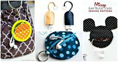 Have a look at these 15 easy DIY earbud holder ideas that is insanely clever and would not let the earbud wires get knotted bending the soft and delicate wires inside the cord! Fabric Tape, Felt Fabric, Earbud Holder Diy, Felt Owls, Diy Keychain, Gold Diy, Mickey Ears, Felt Hearts, Crafty Projects