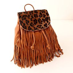 Cool! Leopard Horsehair Tassels Leather Travel Shoulders Bag just $42.99 from ByGoods.com! I can't wait to get it!