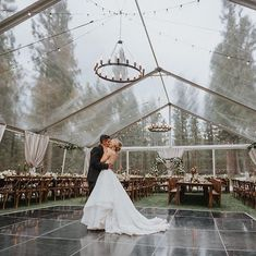 wedding inspo This stunning forest wedding takes place at a dream mountain venue Perfect Wedding, Fall Wedding, Wedding Ceremony, Dream Wedding, Fantasy Wedding, White Tent Wedding, Forest Wedding Reception, Unique Wedding Venues, Lodge Wedding