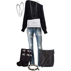 Although I really like this outfit, it would be far outside my comfort zone to wear.