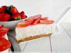 Milk rice and strawberrys cake