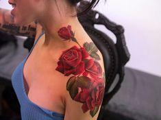 Flores Rosas por Joice Wang