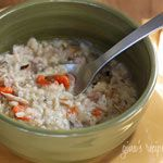 Chicken, Shiitake, and Wild Rice soup