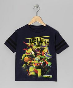 Take a look at this Navy TMNT 'Turtle Trouble' Tee - Kids by Teenage Mutant Ninja Turtles on #zulily today!