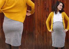 DIY Maternity Pencil Skirt