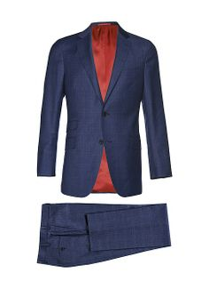 Suit Blue Check Sienna P3706i | Suitsupply $639