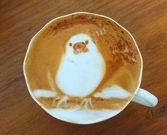 本日の暇カプチーノ、『白文鳥』。 pic.twitter.com/792XrZdlh5