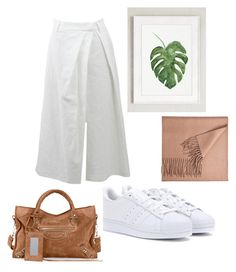 """white and green"" by indreswarik on Polyvore featuring Brunello Cucinelli, adidas and Balenciaga"
