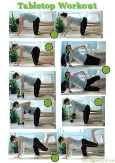 Workout für die Schwangerschaft http://fitundgluecklich.net/2014/05/26/pregnancy-tabletop-workout/
