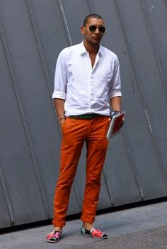 #menswear #summerstyle white paired with brights
