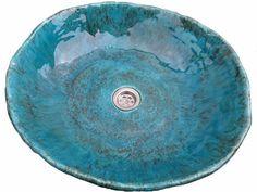 hundirse en el mar lavabo del fregadero de cerámica por Dekornia