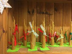 Beeswax Christmas Candles