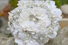 "BOUQUET: Brooch Bouquet, find one vintage for the ""something old"" or from a family member for ""something borrowed"" or in memory of a loved one"