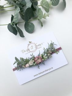 Dusty pink Baby Flowercrown — Daisy & Tanya Pink And White Flowers, Dusty Pink, Baby Headbands, Flower Crown, Different Colors, Wild Flowers, Greenery, Color Schemes, Daisy