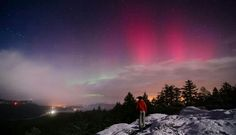Aurora Taken by Jon Dickson on February 2014 @ Saanich, Canada Earth's Magnetic Field, Solar Activity, Aurora Borealis, Gaia, Worlds Largest, Northern Lights, Sky, Places, Nature