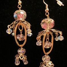 Pretty pink chandelier earrings at the Shopping Mall, $15.00 (USD)