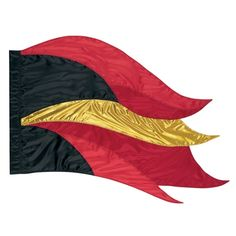 In Stock Color Guard Show Flag FLS0062