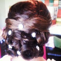 #bride #updo #wedding Done by me, @Kristin Foreman