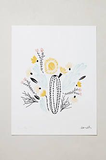 Anthropologie Botanical Prints: South, Midwest, North, East