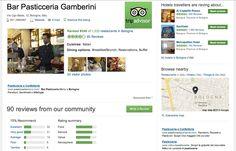 Cafè Pasticceria Gamberini - Tripadvisor responses management September 2012/ August 2013