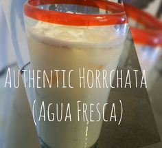 Horchata is a creamy agua fresca made with rice, cinnamon, evaporated milk and condensed milked mixed with water. Nothing beats it on a hot day and it's super easy. Mexican Horchata, Mexican Drinks, Mexican Dishes, Mexican Food Recipes, Drink Recipes, Mexican Fruit Cups, Honduran Recipes, Mexican Desserts, Mexican Cooking